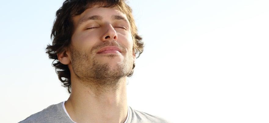 Male Breathing Image